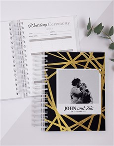 gifts: Personalised Gold Chic Wedding Journal!