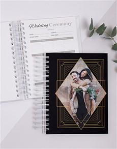 gifts: Personalised Gold Art Pattern Wedding Journal!