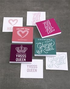 gifts: Personalised Badass Note Gift Set!