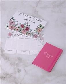 gifts: Personalised Feminine Floral Desk Stationery Set!