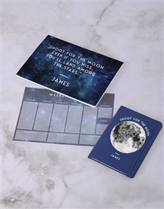 gifts: Personalised Shoot For Moon Desk Stationery Set!