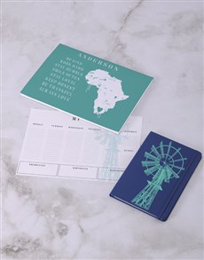 gifts: Personalised Love Africa Desk Stationery Set!