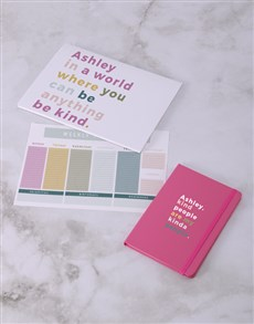 gifts: Personalised Kind People Desk Stationery Set!