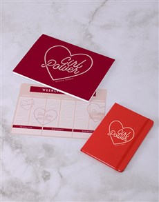 gifts: Personalised Girl Power Desk Stationery Set!