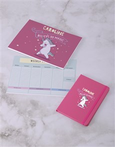 gifts: Personalised Believe In Magic Desk Stationery Set!