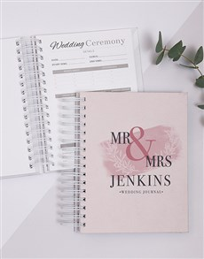 gifts: Personalised Becoming Mr And Mrs Wedding Journal!