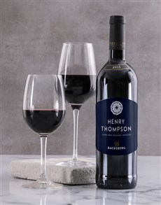 gifts: Personalised Vintage Backsberg Wine!