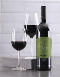 gifts: Personalised Cosmopolitan Backsberg Wine!