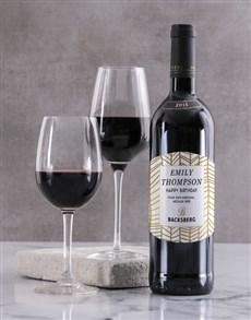 gifts: Personalised Golden Backsberg Wine!