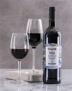 gifts: Personalised Marble Backsberg Wine!