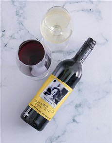 gifts: Personalised Remember This Kid Photo Wine!
