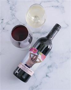 gifts: Personalised Botanic Photo Wine!