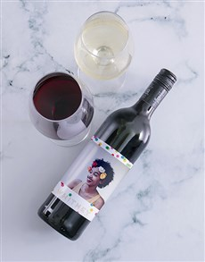 gifts: Personalised Colour And Confetti Photo Wine!