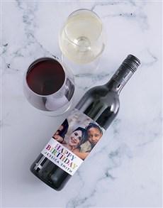 gifts: Personalised Birthday Photo Wine!