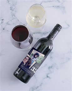 gifts: Personalised Look Who Photo Wine!