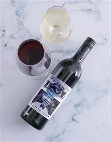 gifts: Personalised Then And Now Photo Wine!