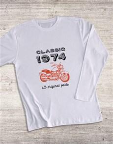 gifts: Personalised Classic Year Bike LongSleeve T Shirt!