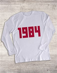 gifts: Personalised Year Long Sleeve T Shirt!