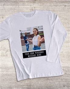 gifts: Personalised Photo Message Long Sleeve T Shirt!