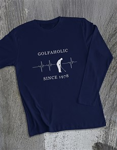 gifts: Personalised Golfaholic Long Sleeve T Shirt!