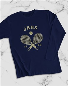 gifts: Personalised Tennis Team Long Sleeve T Shirt!
