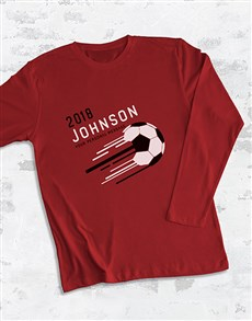 gifts: Personalised Soccer Surname Long Sleeve T Shirt!