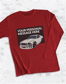 gifts: Personalised Racecar Long Sleeve T Shirt!