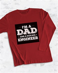 gifts: Personalised Dad and Kickass Long Sleeve T Shirt!