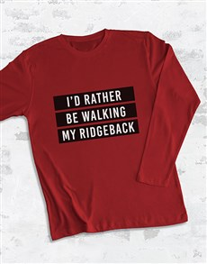 gifts: Personalised Id Rather Be My Long Sleeve T Shirt!