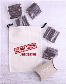 gifts: Personalised Warning Biltong Bag!