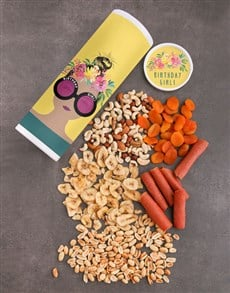 gifts: Personalised Birthday Girl Fruit And Nuts Tube!