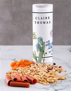 gifts: Personalised Bontanic Gourmet Fruit And Nuts Tube!