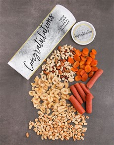 gifts: Personalised Congrats Gourmet Fruit And Nuts Tube!