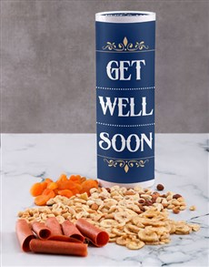 gifts: Personalised Get Well Fruit And Nuts Tube!