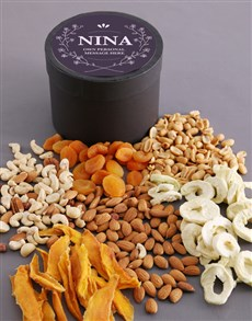 gifts: Personalised Elegant Fruit and Nut Hat Box!