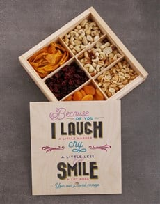 gifts: Personalised Because of You Snack Crate!