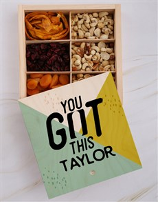 gifts: Personalised You Got This Snack Crate!
