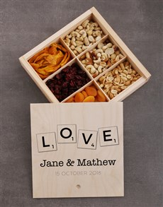 gifts: Personalised Love Snack Crate!