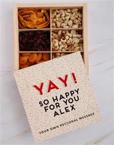 gifts: Personalised Yay Happy Snack Crate!