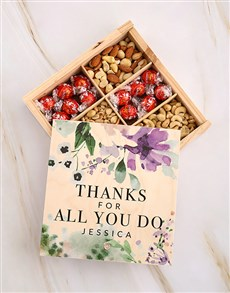 gifts: Personalised Thanks Flower Snack Crate!
