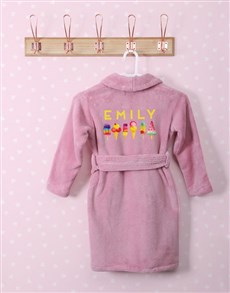 gifts: Personalised I Scream Pink Fleece Kids Gown!