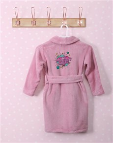 gifts: Personalised Princess Rocks Pink Fleece Kids Gown!
