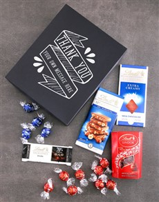 gifts: Personalised Thank You Lindt Box!