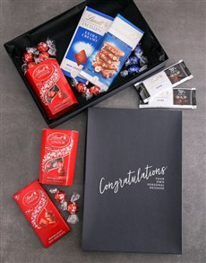 gifts: Personalised Congrats Box Of Lindt Chocs!