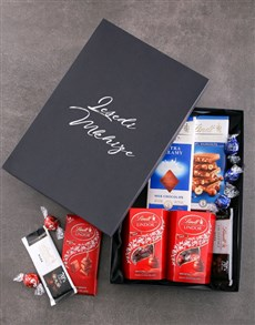 gifts: Personalised Black Lindt Box!