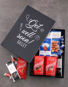 gifts: Personalised Get Well Box Of Lindt Chocs!