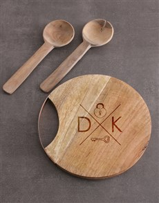 gifts: Personalised Lock Key Round Chopping Board!