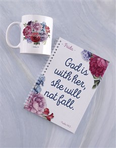 gifts: Personalised Fearless Mug And Notebook!