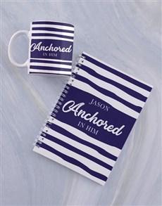gifts: Personalised Anchored Mug And Notebook!