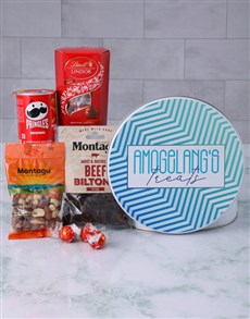 gifts: Personalised Blue Treats Gourmet Tin!
